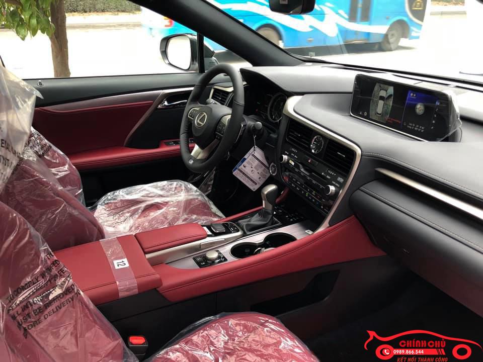 Giao Ngay Lexus RX 350 F-Sport sx 2019, màu trắng nội thất đỏ cherry cực hiếm, giá tốt