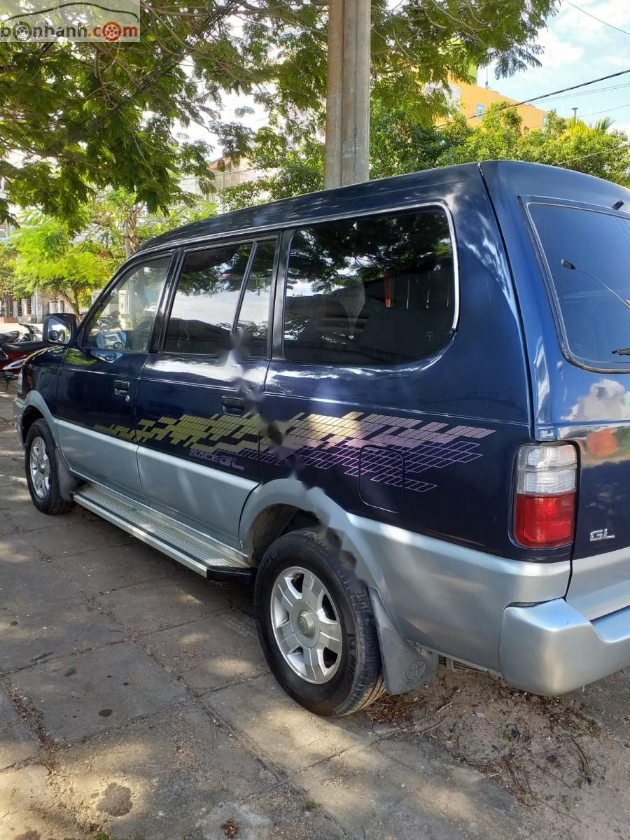 Cần bán xe Toyota Zace GL đời 2002, màu xanh lam xe gia đình