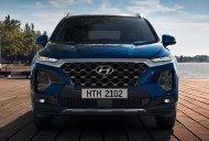 Hyundai Long Biên cần bán Hyundai Santa Fe 2.4 Premium đời 2019, màu xanh lam giá 1 tỷ 185 tr tại Hà Nội