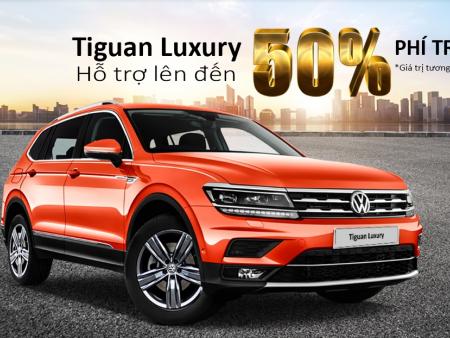 Volkswagen Tiguan Allspace hỗ trợ lên đến 50% phí trước bạ trong tháng 7